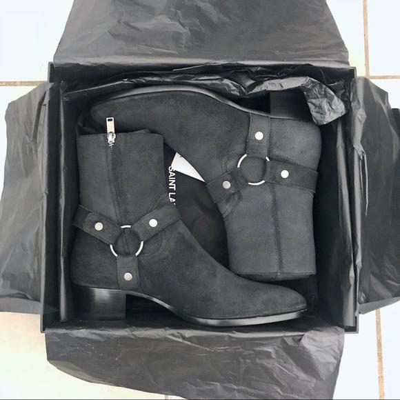 13549f03b72 Saint Laurent Shoes   1200 Paris 40mm Harness Wyatt Boots   Poshmark